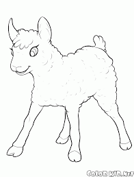coloring page little lamb have fun