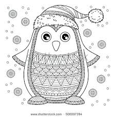 Penguin Coloring Pages Christmas Penguin Coloring Pages Merry Jolly Penguin The Detailed by Penguin Coloring Pages