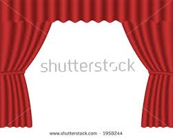 Velvet Home Theater Curtains Red Fabric Theatre Curtains On Plain Stock Illustration 612640856