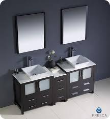 2 Sink Bathroom Vanity 72 Fresca Torino Fvn62 301230es Vsl Modern Sink Bathroom