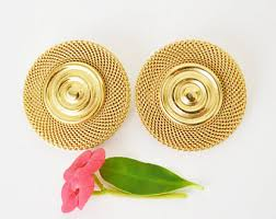 gold earrings design monet gold earrings etsy