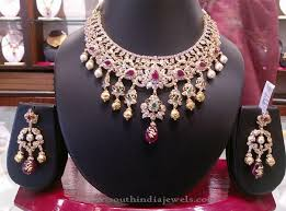 purple stone necklace set images Gold stone necklace set from manchu konda shyam zaveri necklace jpg