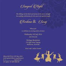 ceremony card wording wedding invitation wording for sangeet ceremony sangeet ceremony
