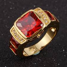 big male rings images Ring 90 fascinating mens gold garnet ring image design mens gold jpg