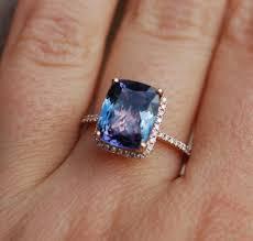 tanzanite ring rose gold engagement ring by eidelprecious on etsy
