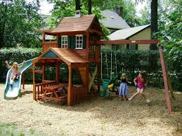 Cheap Backyard Playground Ideas Tips Outdoor Playset Wooden Outdoor Playsets For Kids Toddler