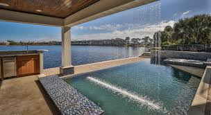 Pool With Pergola by Exterior Design Modern Swimming Pool Design With Lounge Chairs
