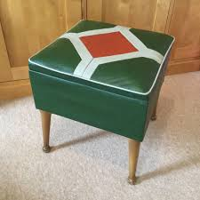 Foot Ottomans 1960 S Vintage Retro Foot Stool Pouffe Footstool Sewing Box