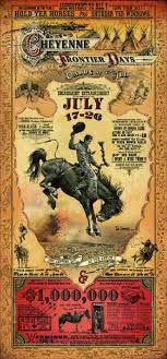Wyoming travel posters images Cheyenne wyoming frontier days rodeo poster by bob coronato jpg
