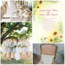 Sunflower Wedding Programs Fall Wedding Ideas Invitesweddings Com
