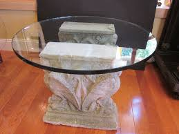 furniture brilliant coffee table bases for glass tops astounding