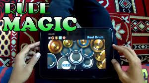 real drum tutorial rude rude magic real drum cover youtube