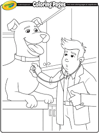 veterinarian coloring page crayola com