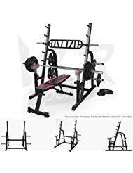 Squat Rack And Bench Press Combo Amazon Co Uk Power Cages Sports U0026 Outdoors