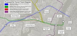 hudson bergen light rail map transit