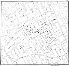 Map Pattern Dr John Snow U0027s Map Of The 1854 London Cholera Outbreak