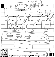 clipart coloring page for adults of slot machine