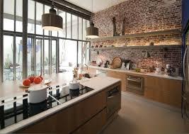 cuisine avec brique cuisine brique blanche beau cuisine brique faience cuisine