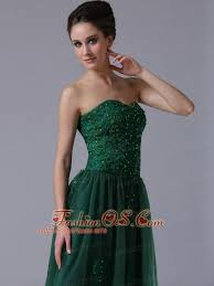 dark green sweetheart a line tulle 2013 short prom dress with