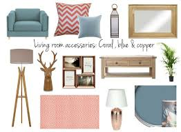 livingroom accessories living room accessories copper blue and coral in brum