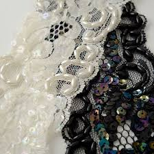 ribbon lace pearl beaded sequin ribbon lace trim 2 1 2 inch joyce trimming