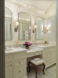 Bathroom Counter Cabinets by Ivory Master Bathroom Features A Robert Abbey Bling Chandelier