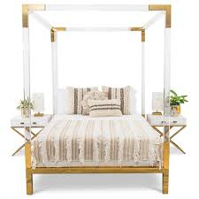Four Post Bed by Trousdale Four Poster Lucite Bed Modshop