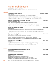 Journalism Resume Resume Colin Archdeacon