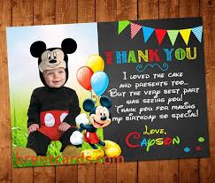 mickey mouse thank you cards personalized mickey mouse thank you cards free card design ideas