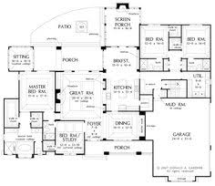 Craftsman Style Open Floor Plans Craftsman Plan 132 200 Great Bones Could Be Changed To 2