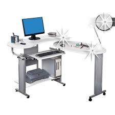 bureau informatique angle bureau informatique d angle blanc 120 200 cm achat vente