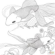 golden fish japanese coloring page art u0026 culture creative