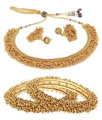 necklace set gold design images Jewels galaxy golden designer bangles with necklace set pack of jpg