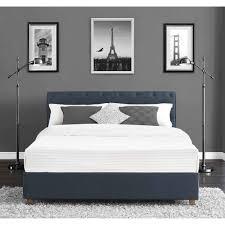 dhp carmela linen upholstered bed navy walmart com