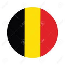 Belgia Flag Round Belgium Flag Vector Icon Isolated Belgium Flag Button