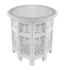 small sofa side table living room nightstand white shabby chic