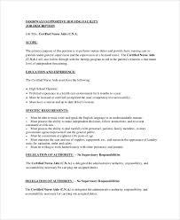 Sample Resume For Cna Job Cna Job Duties Cna Resume Cna Resume Sample Resumeliftcom Example