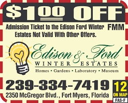 Florida On Map by Edison U0026 Ford Winter Estates Florida Coupons And Deals