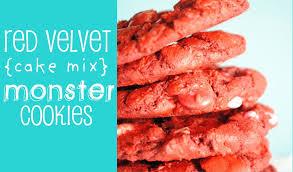 red velvet monster cookies something swanky