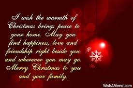 i wish the warmth of merry message