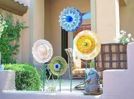 Glass Garden Decor 105 Best Up Cycled Garden Decor Images On Pinterest Gardening