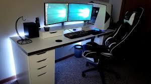 Computer Desk For Two Monitors Computer Desk For Two Monitors Floating Dual Monitors On