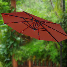 Umbrellas For Patio Tables by Furniture Ultimate 11 5 Ft Solar Cantilever Umbrella In Red With