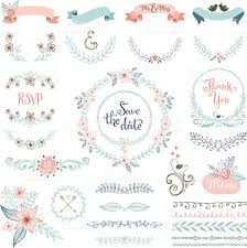wedding design rustic wedding design set stock vector more images of