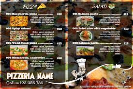 pizza brochure template pizza menu flyers food poster