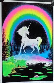 free black light posters orig vintage velvet black light poster unicorn 1980 free