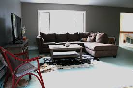 charming apartment living room design with grey loveseat plus