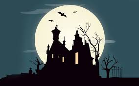 halloween castle at night 6929384