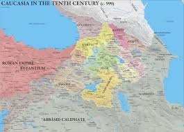 Map Of Armenia Caucasia In The Tenth Century C 999 Ad And The Fragmentation