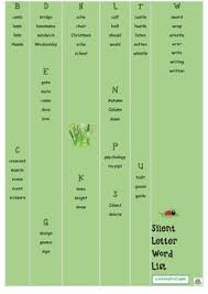 silent letter board game silent word slide printable by